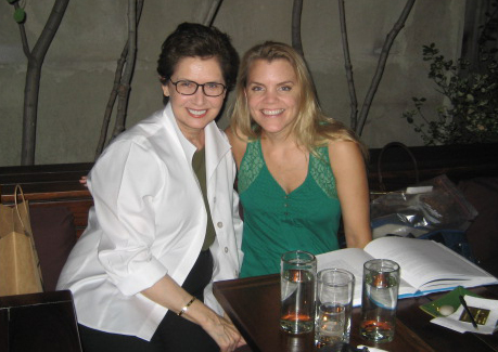 Linda Long and me at Pure Food & Wine in NYC