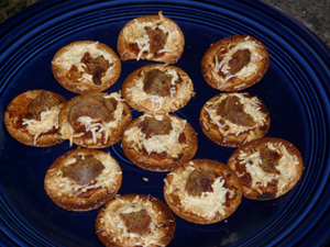 Daiya Mini Pizzas on Crackers